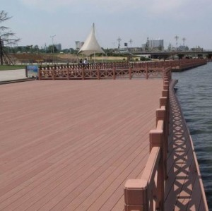 Out door  projects  Plastic Wood Outdoor Decking wpc flooring