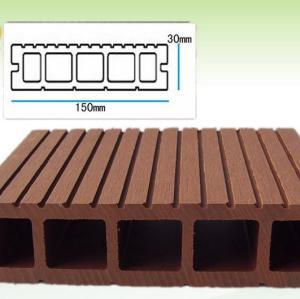مخدد تبليط WPC انتاجية التزيين مجلس 150x30mm