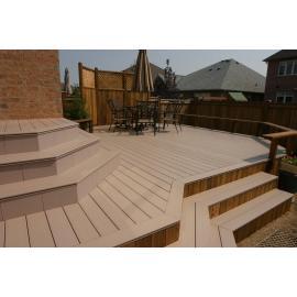 Outdoor decking wood composite flooring board