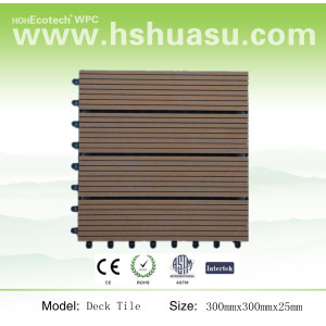 long life wood grain wpc floor tile
