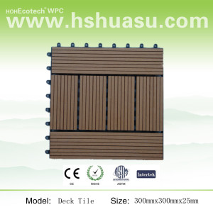 Water proof and Easy to assemble beautiful wood look wpc flooring tile