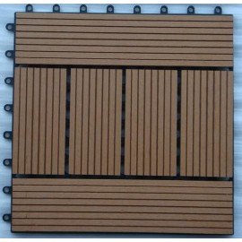 Waterproof Wood Plastic Composite Tiles for Outdoor Decoration