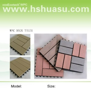 Hot sale! household /outdoor Non-Slip, Wear-Resistant wpc decking tiles