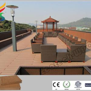 Ecological WPC composite decking for pool or garden