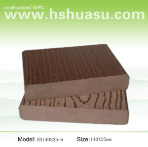 Embossing 140x25mm solid decking outdoor wpc decking /flooring