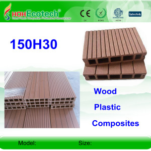 HOLLOW wpc decking outdoor  wpc decking /flooring