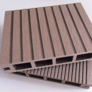 135x25mm HOLLOW wpc decking outdoor wpc decking /flooring