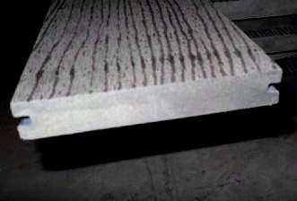 138x23mm سطح النقش الصلبة التزيين انتاجية التزيين في الهواء الطلق WPC / الأرضيات