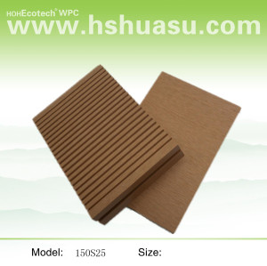Waterproof 150x25mm HOLLOW wpc decking outdoor  wpc decking /flooring