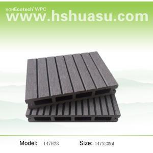147x23mm wood plastic composite flooring  wpc decking outdoor  wpc decking /flooring