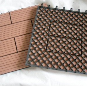300x300mm indoor and outdoor WPC decking/flooring tiles