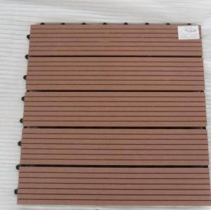 400X400mm indoor and outdoor WPC decking/flooring tiles