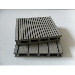 17mm thickness   Hollow wpc decking /flooring board