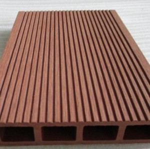 135x25mm outdoor   Hollow wpc decking /flooring board