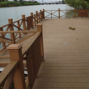 WATERPROOF WPC project   Hollow wpc decking /flooring board