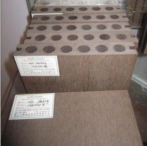 Round hole WPC decking  Hollow wpc decking /flooring board