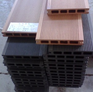 Hollow wpc decking /flooring board 150x25mm