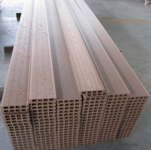 Pallet package color to choose Hollow wpc decking /flooring board