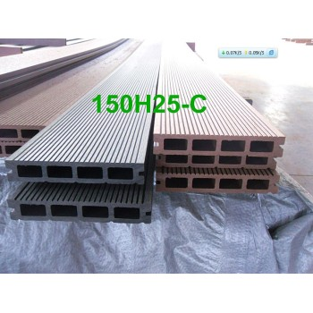 WOOD PLASTIC COMPOSITE decking  Hollow wpc decking /flooring board