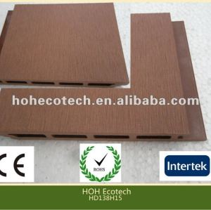 Durable caliente venta eco - ambiente al aire libre del wpc decking ( a prueba de agua, resistencia a rayos uv, resistencia a la pudrición y el crack )