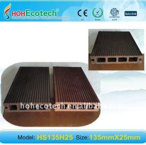Respetuoso del medio ambiente nuevo compuesto plástico de madera ( wpc ) decking del wpc suelo ( ce, rohs, astm, iso9001, iso14001, intertek )