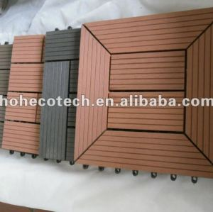 7 colors to choose Easy Installation wpc interlocking decking tiles wpc DIY decking tiles