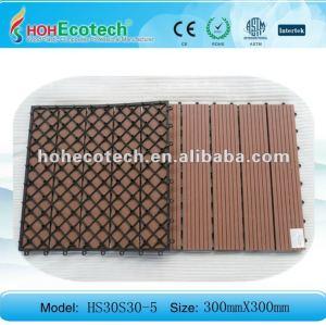 Artificiale in legno decking piastrelle/stanzadabagno wpc diy bordo piastrella
