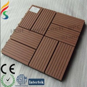 Decking en plastique en bois de bois de construction/bois de charpente DIY/tuile de salle de bains