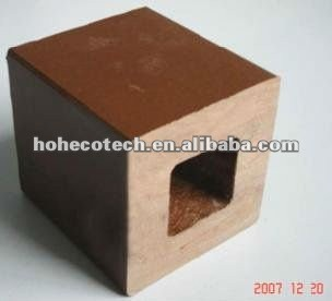 La meilleure vente ! Poteau extérieur réutilisé de barrière de wpc imperméable à l'eau (CE RoHS ISO9001 ISO14001)