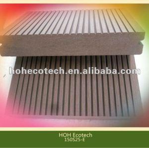 Decking extérieur de wpc respectueux de l'environnement chaud durable de vente (preuve de l'eau, résistance UV, résistance à se décomposer et fente)