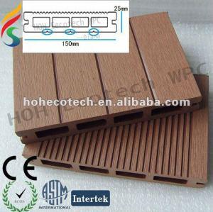 wpc deck flooring plank ,wood plastic composite decking