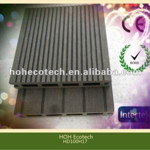 Durable caliente venta eco - ambiente hueco wpc decking ( a prueba de agua, resistencia a rayos uv, resistencia a la pudrición y el crack )