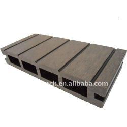 Woodlikeのフロアーリングの質の保証(セリウム、ROHS、ASTM) 150*25mmの木製のプラスチック合成のdeckingかフロアーリングのプラスチックdecking