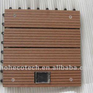 with led light wood plastic deck tile