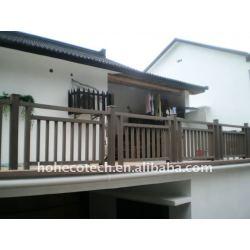 木製のプラスチック合成の柵か内部階段柵を囲うこと