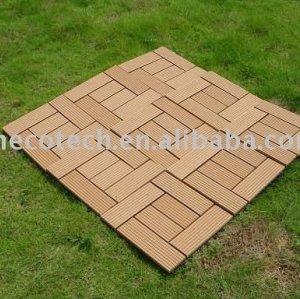 Tuile de decking de panneau de salle de bains d'Ecowood WPC pour le jardin/balcon /backyard/courtyard