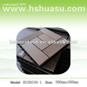 300mmx300mm tamanho durável bloqueio wpc decking/ ladrilhos