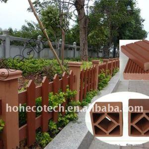 Clôture du bois de la décoration WPC de lieux publics de barrière de wpc de balustrade de WPC