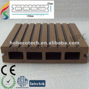 Decking de wpc/ composto plástico de madeira/ decking oco