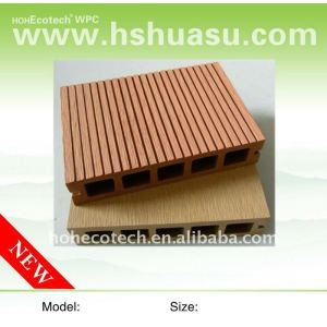 Best sell! HOLLOW light design WPC wood plastic composite decking/flooring composite wood decking