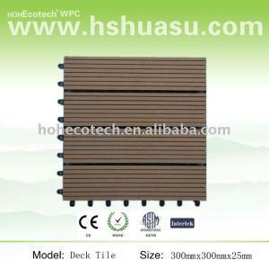 Verrouillage tuile decking de wpc/decking de wpc/composite bois plastique