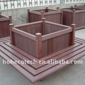 De madera compuesto de plástico banco/sillas público resto sillas sillas de ocio/banco de banco de madera