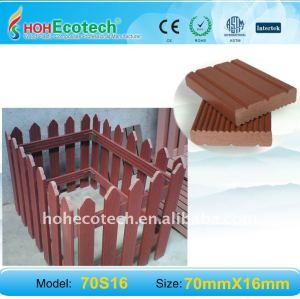 Eco-friendly waterproof WPC railing composite fencing wpc garden fence