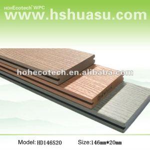 Planches de decking/plancher de Wpc, decking composé en plastique en bois, plancher de wpc