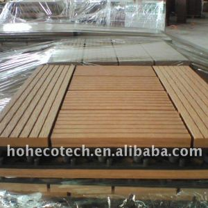 WASHING room sanna board WPC outdoor tile flooring Wpc Decking Tile wpc tile