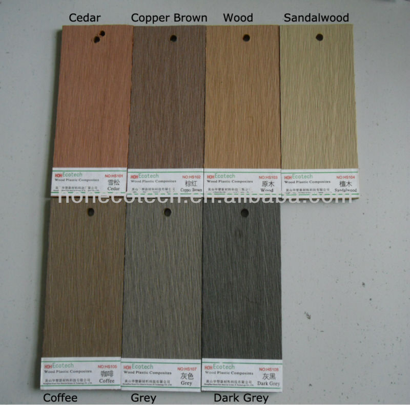 Wpc deck flooring options china wpc decking flooring for Comparison of composite decking brands