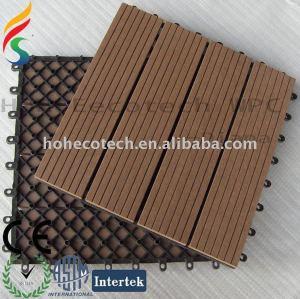 Vinil azulejo pavimento com base de plástico - cor de madeira