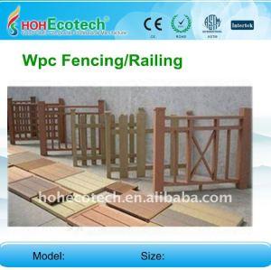 Favorable à l'environnement, vie recyclable de 100% la PLUS LONGUE que la barrière en bois WPC clôturant la barrière composée de jardin de wpc