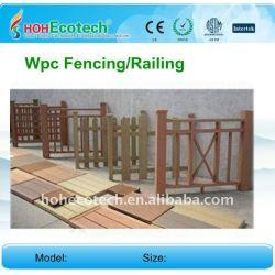 環境に優しい、wpcの合成の庭の塀を囲う木製の塀WPCより100%の再生利用できる長い生命