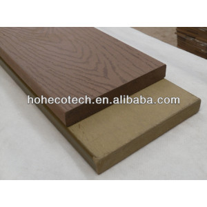 China manufacturer of CE outdoor flooring solid hollow woodgrain groove WPC decking